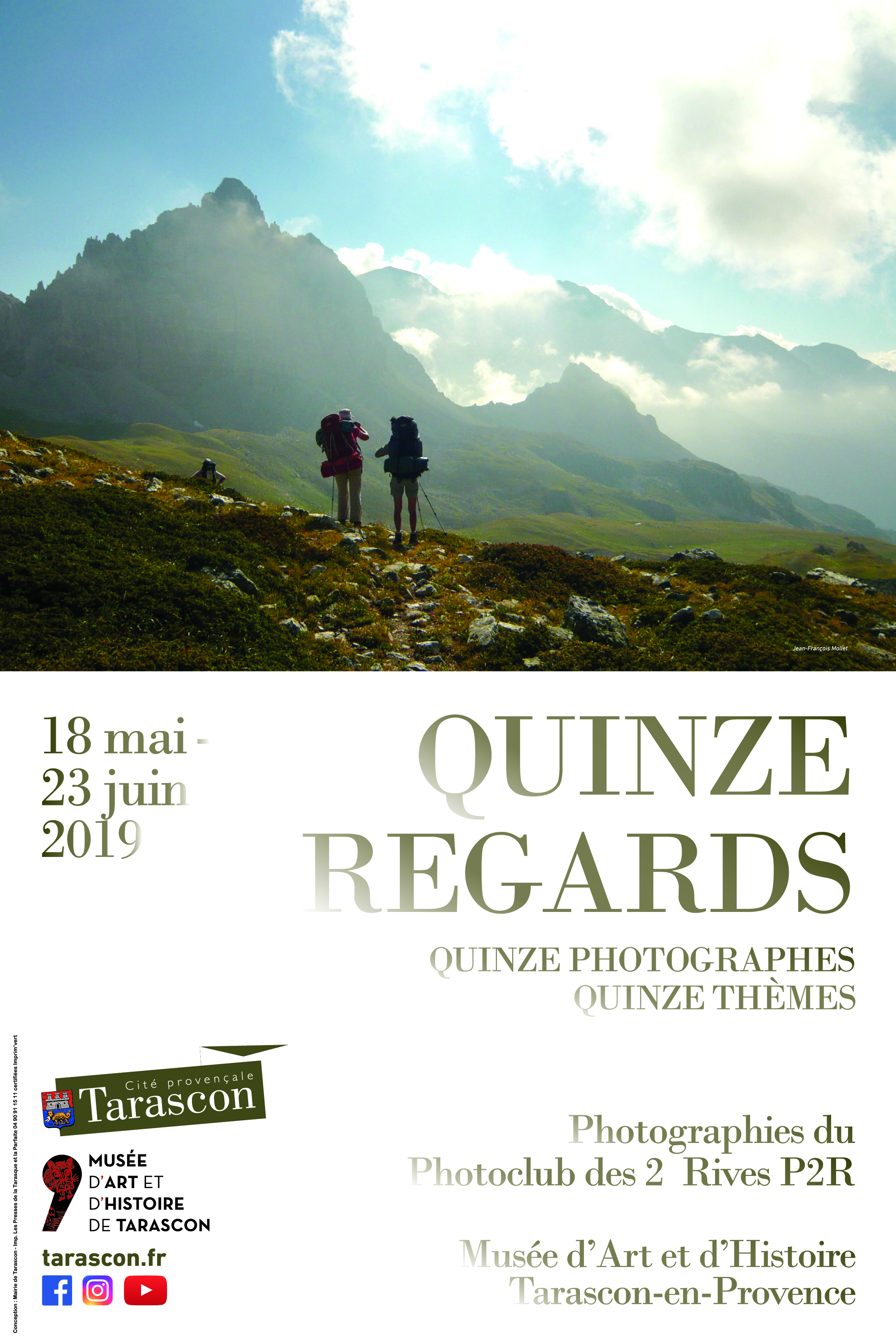 Affiche de l'exposition Quinze regards